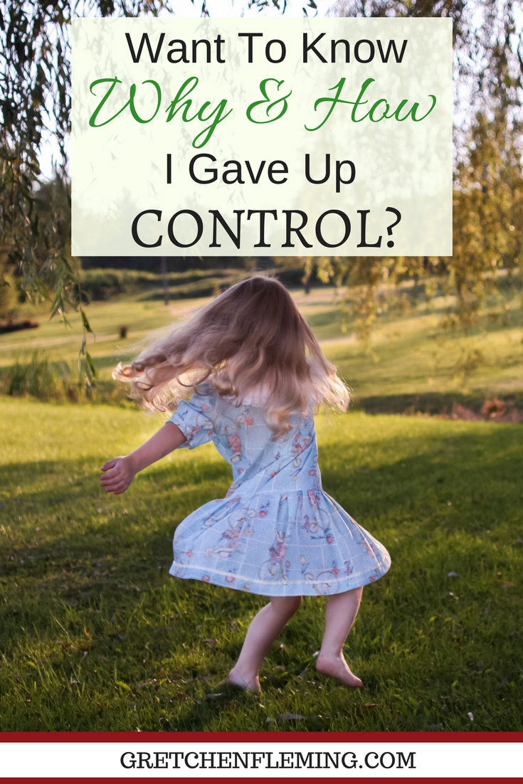 """Being in control. We all like to be in control of our lives, of our spouse's life, of our kids' lives, and of most everything around us. How can we learn to let go of control? How can we give up the controls? And, why should we give up control? Want To Know Why And How I Gave Up """"Control""""? Why not drop by today to find out?"""