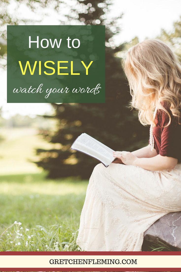 Have you ever had one of those moments when your words slipped out before you really meant for them to? Have you lost your cool and been so sorry? What can we do to more wisely respond, speak, and react to the crazy events of our lives? That's what this article is about today.