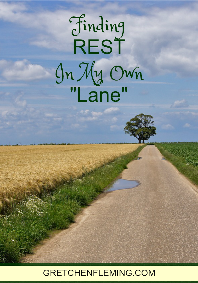 """Finding REST In My Own """"Lane"""" -Guest Post For Suzie Eller of Proverbs 31 Ministry"""